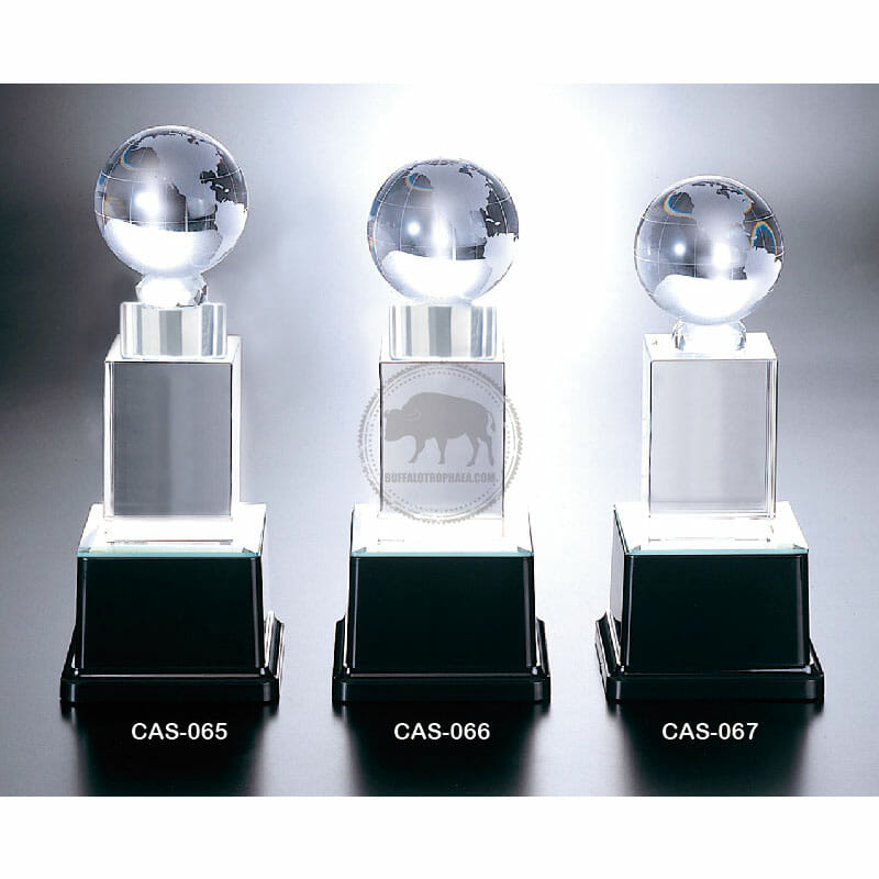 CAS-065067 水晶燈光獎座製做