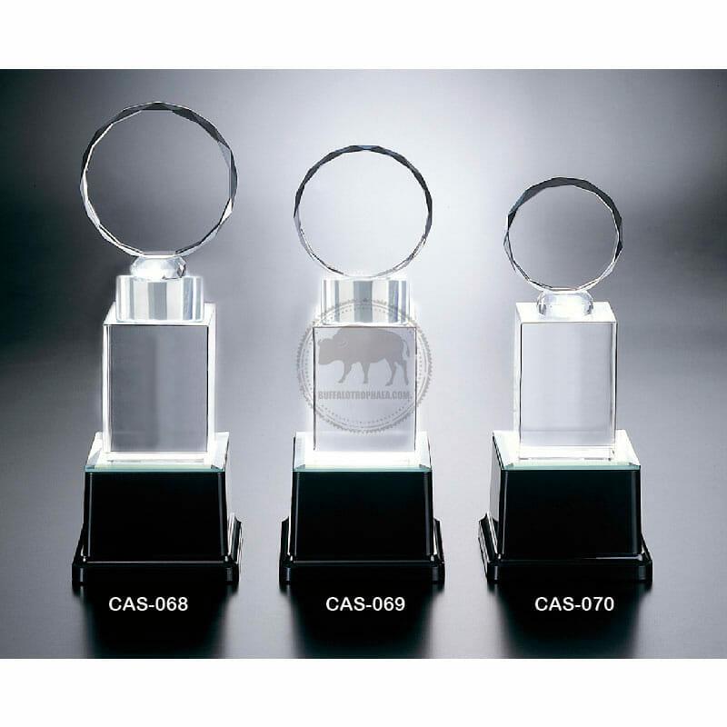 CAS-068070 水晶燈光獎座製作