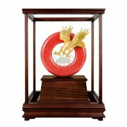 DY  開業大紅金玻璃櫥藝品