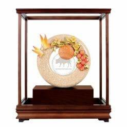 DY  大吉大利琺瑯彩玻璃櫥藝品
