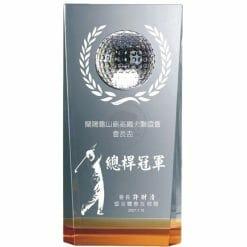 YC-G522 Crystal Golf Awards