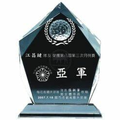 YC-G608-A Crystal Golf Awards