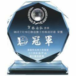 YC-G608-F Crystal Golf Awards