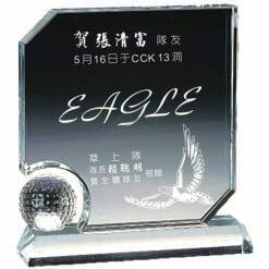 YC-G608-G Crystal Golf Awards