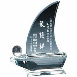 YC-G618 Crystal Golf Awards