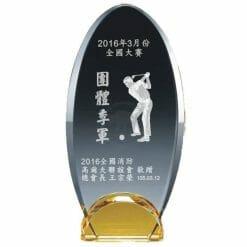 YC-G672-C Crystal Golf Awards