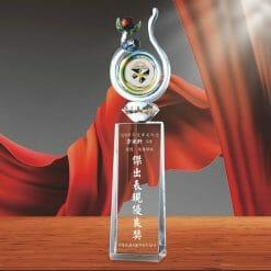表揚水晶獎盃訂做 PD-067-2