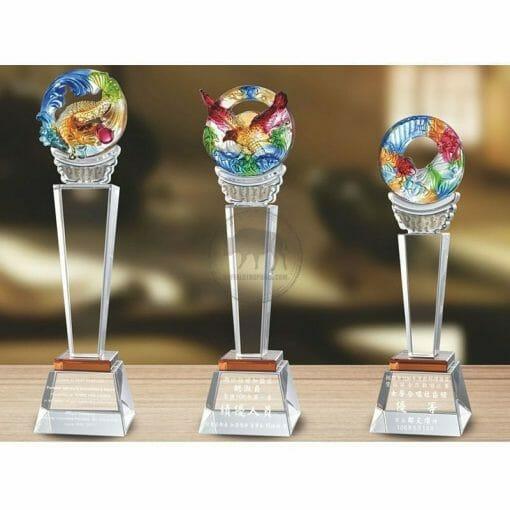 Crystal Awards - Hardworking - Amber PE-015