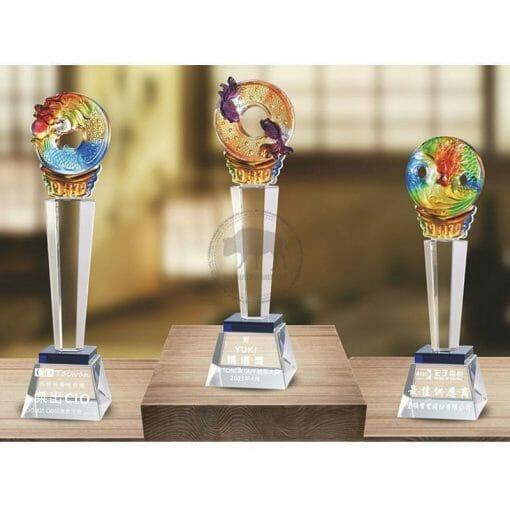 Crystal Awards - Hardworking - Blue PE-019