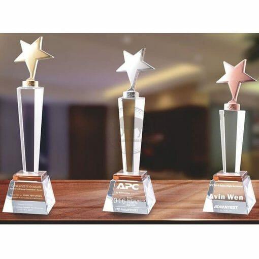 Crystal Awards - Hardworking - Star - Amber PG-108